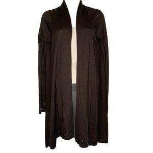 BCBGMAXAZRIA XS/S Hi Lo Cardigan Silk Wool Light